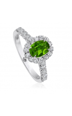 Christopher Designs Emerald Halo Ring L101-OV075-EM product image