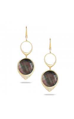 Black M.O.P. And Diamond Dangle Earrings product image