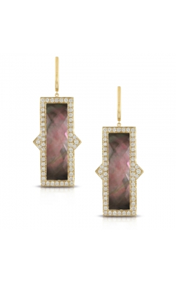 Deco Diamond & Black M.O.P. Earrings product image