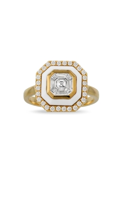 Diamond And White Agate Ring ALC-30509 product image