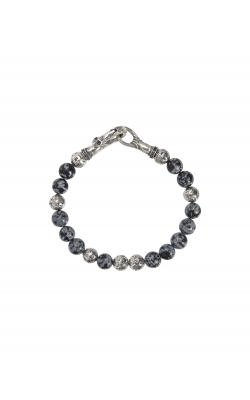 Silver & Obsidian Bracelet STB-27714 product image