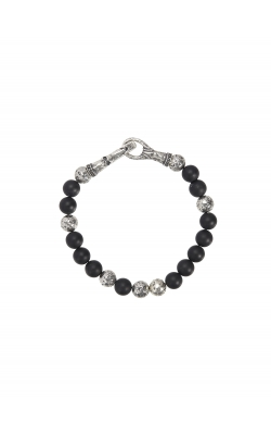 Silver & Onyx Bracelet STB-27715 product image