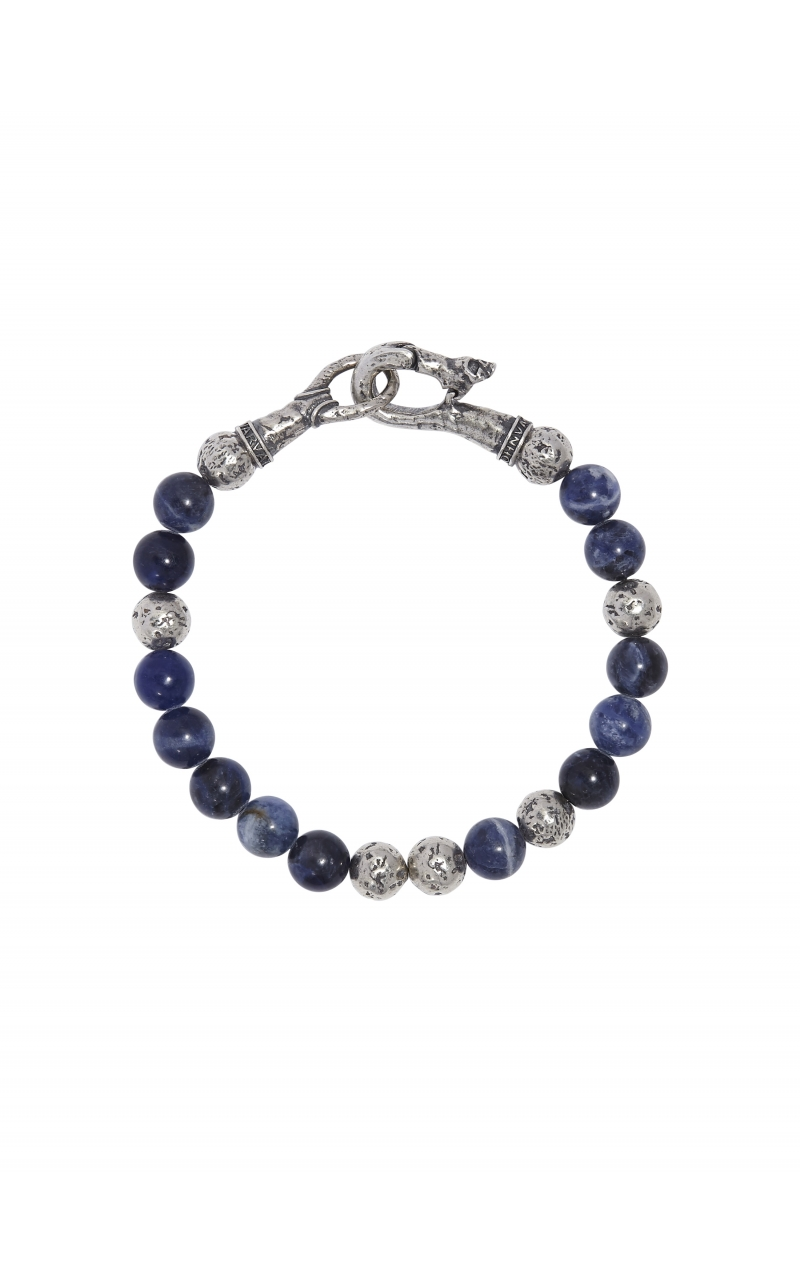 Silver & Sodalite Bead Bracelet STB-27716 product image