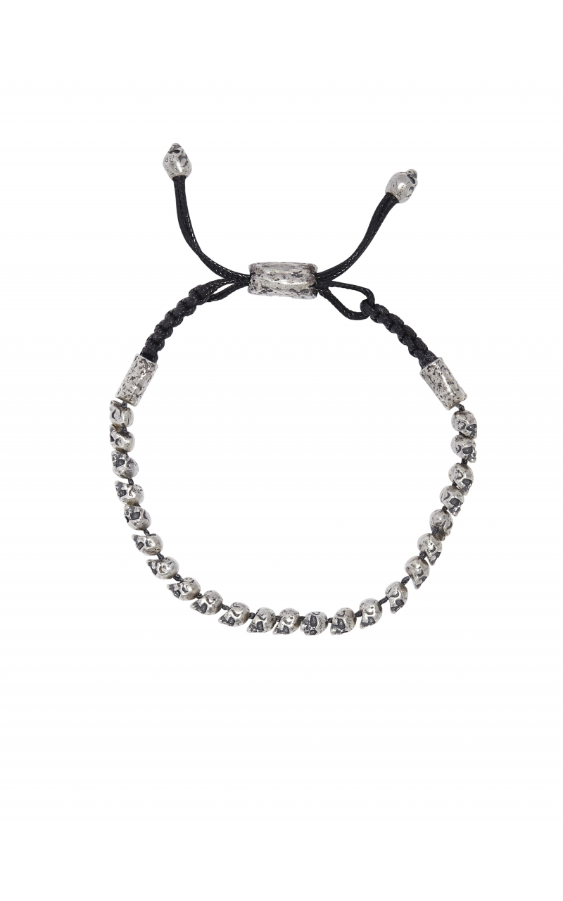 Silver Skull Adjustable Bracelet STB-27718 product image