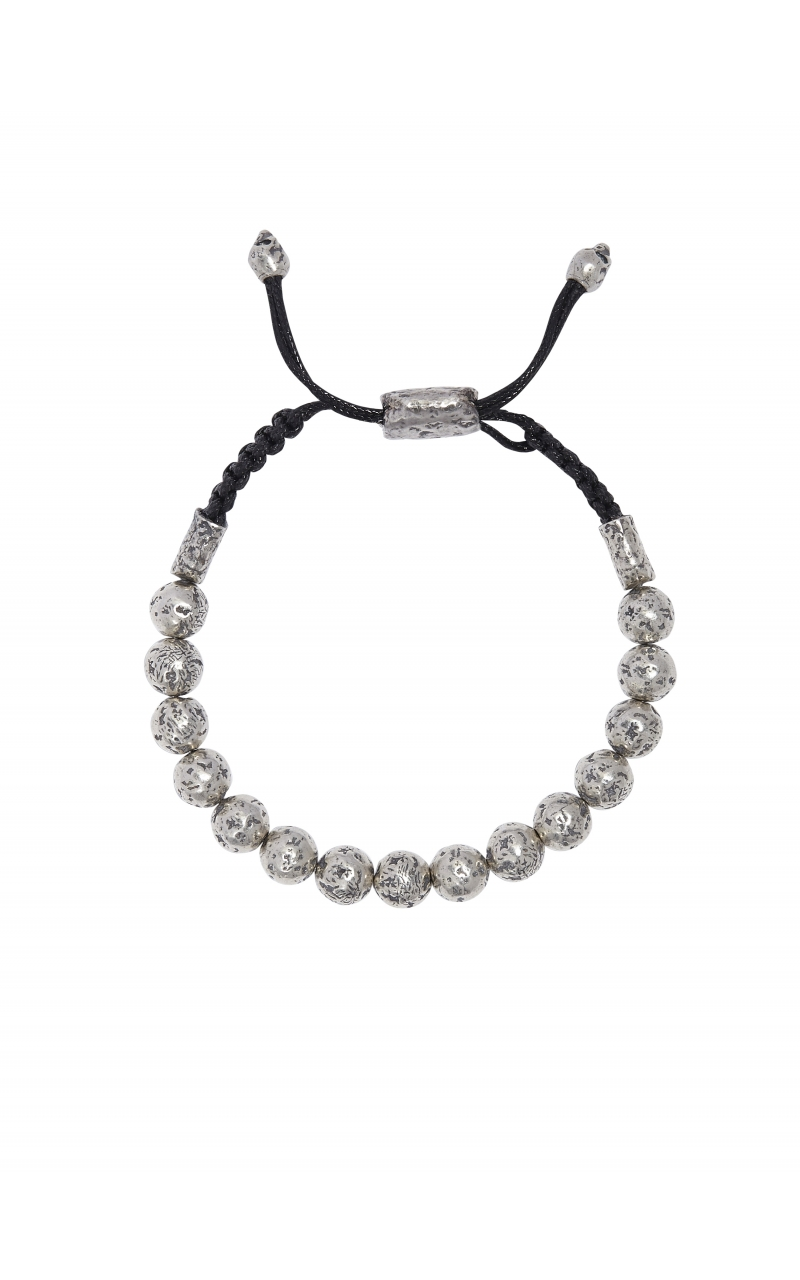Silver Beaded Adjustable Bracelet STB-27721 product image