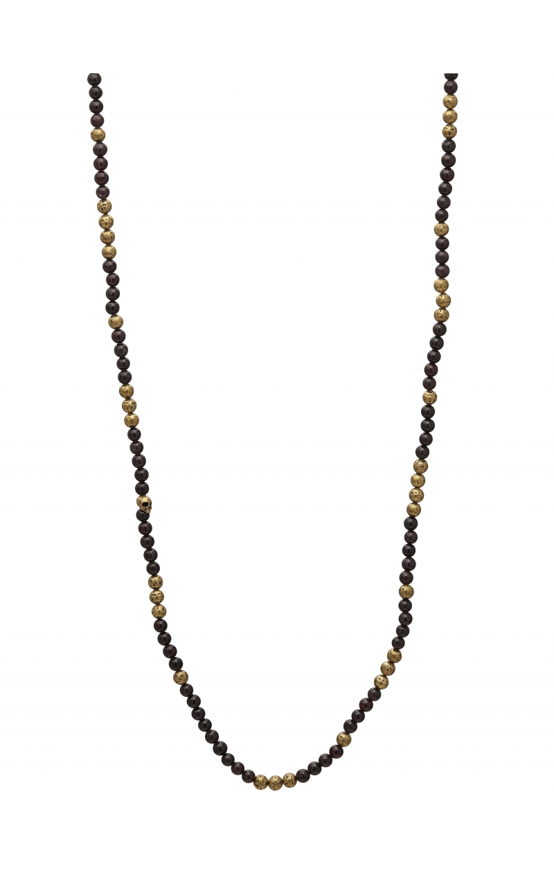 Brass & Red Garnet Necklace STC-27724 product image