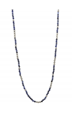 Silver & Sodalite Beaded Necklace STC-27726 product image