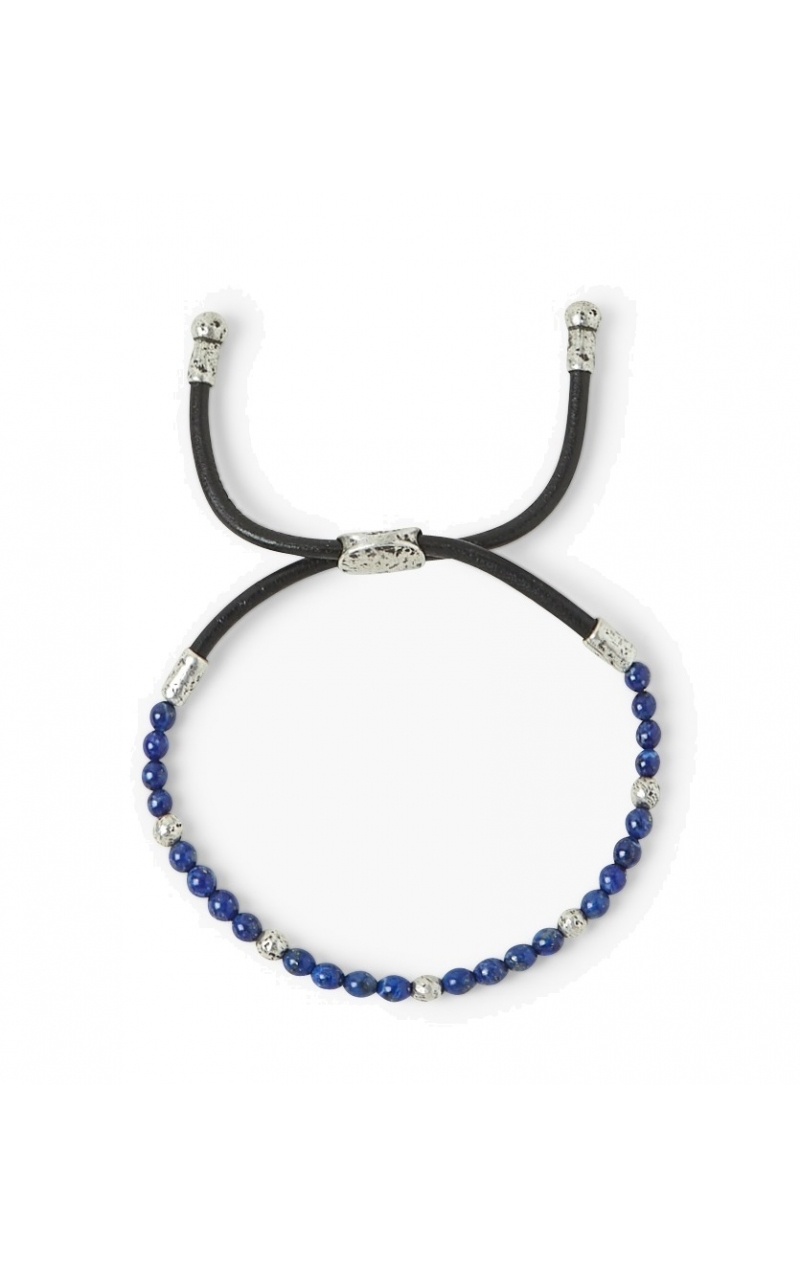 Lapis Bead Silver Adjustable Bracelet product image