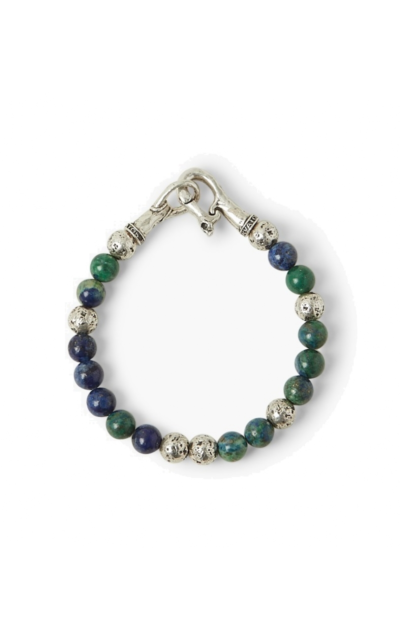 Azurite Bead Silver Bracelet product image