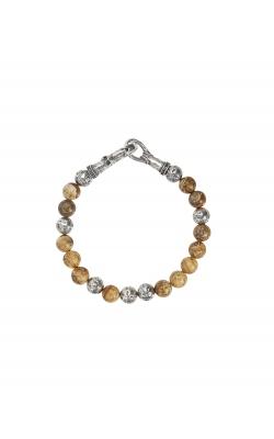 Jasper Bead Silver Bracelet product image