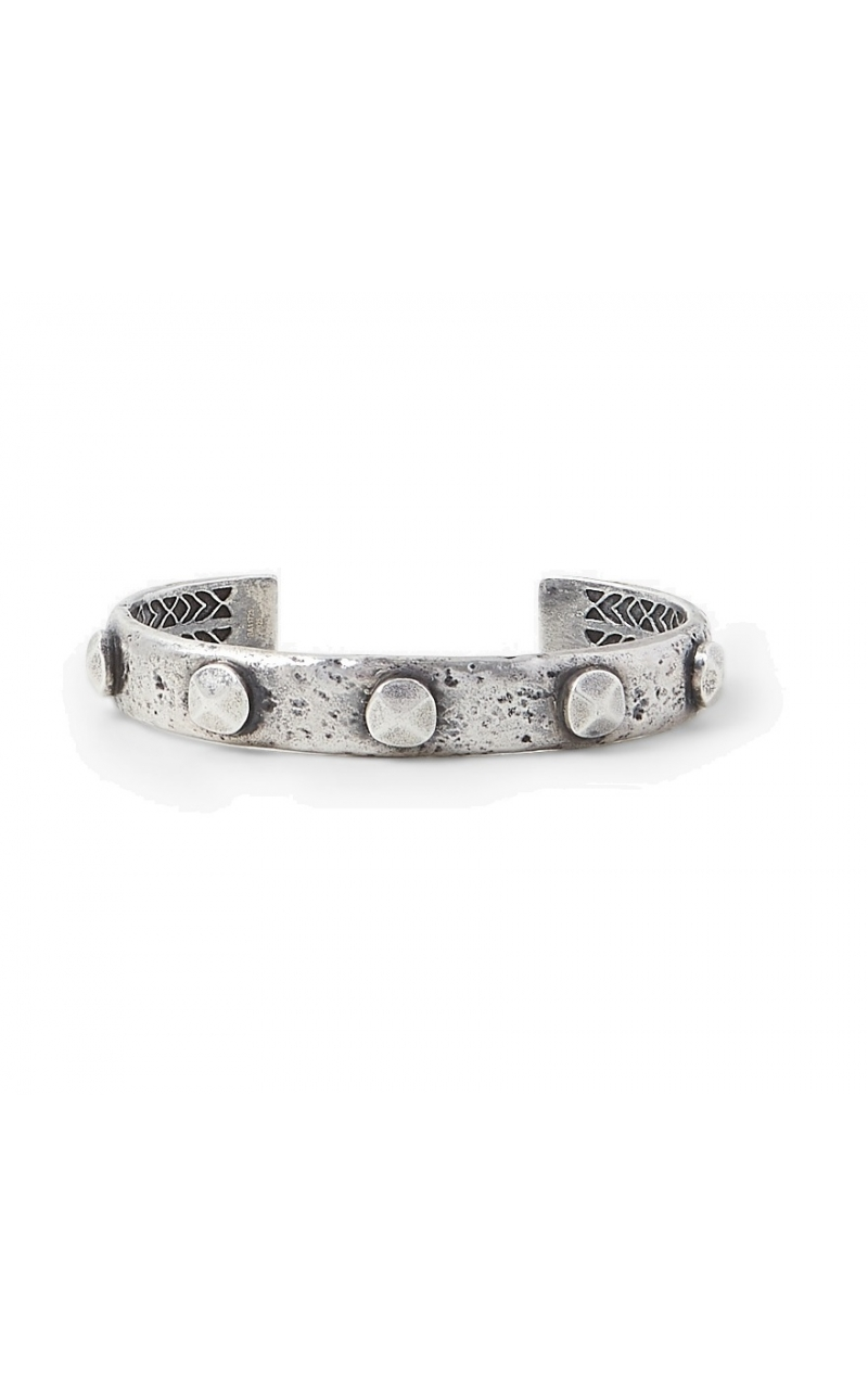 Large Rivet cuff In Silver product image