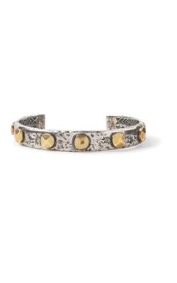 Brass Rivet In Silver Cuff product image