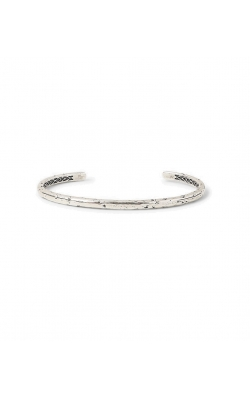 4mm Distressed Silver Cuff product image
