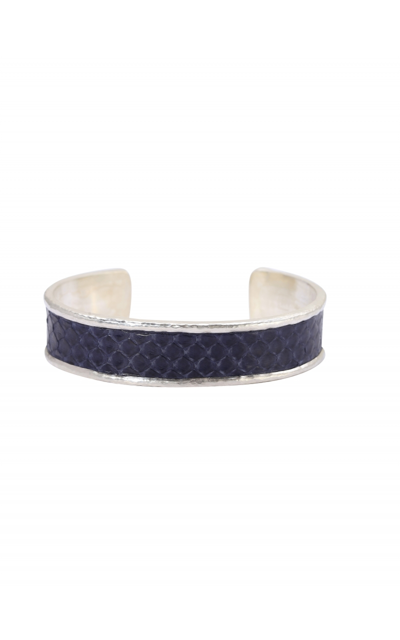 Blue Snake Leather Cuff product image
