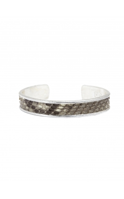 Silver Leather Skin Cuff product image