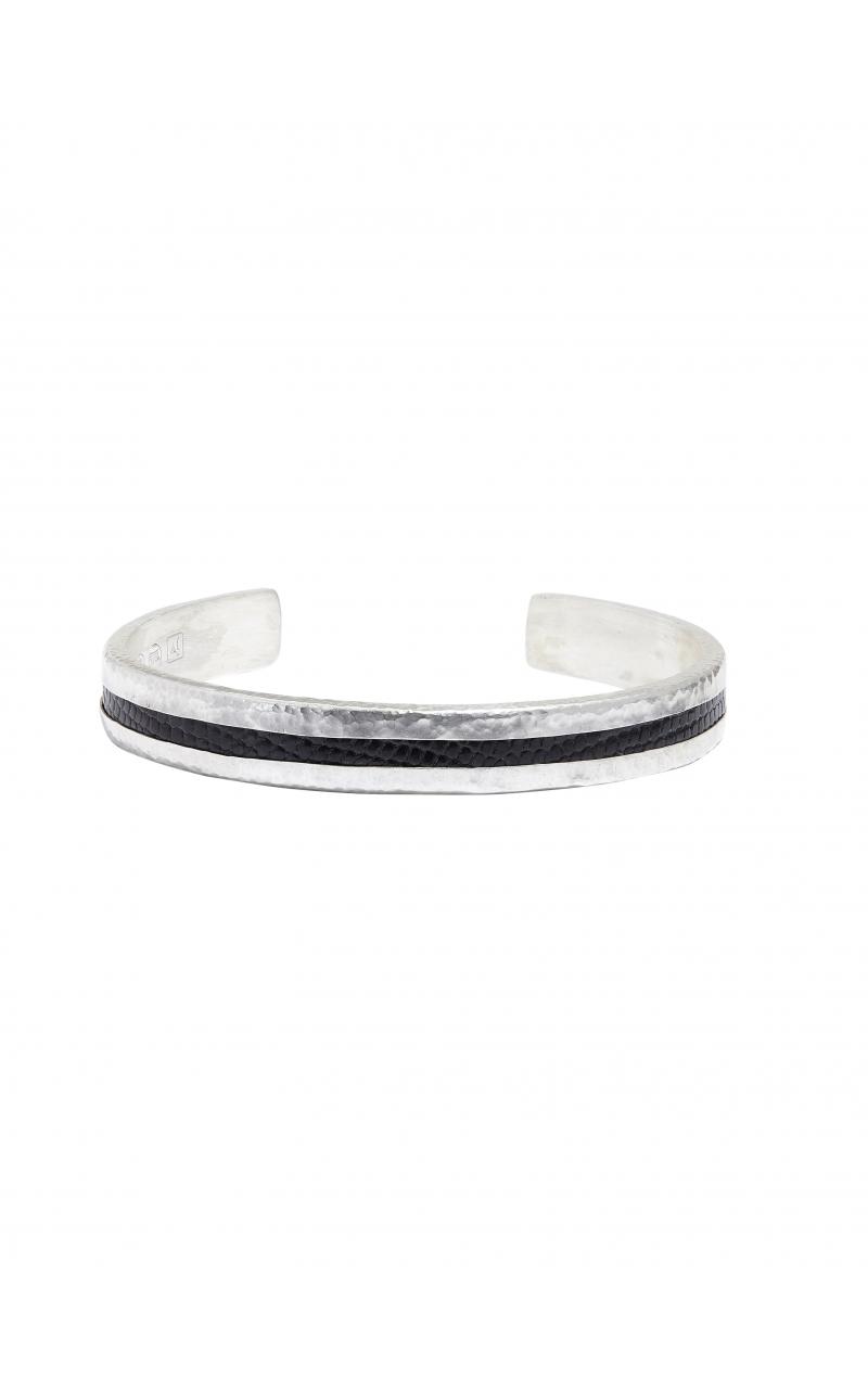 Black Iguana Skin Silver Cuff product image