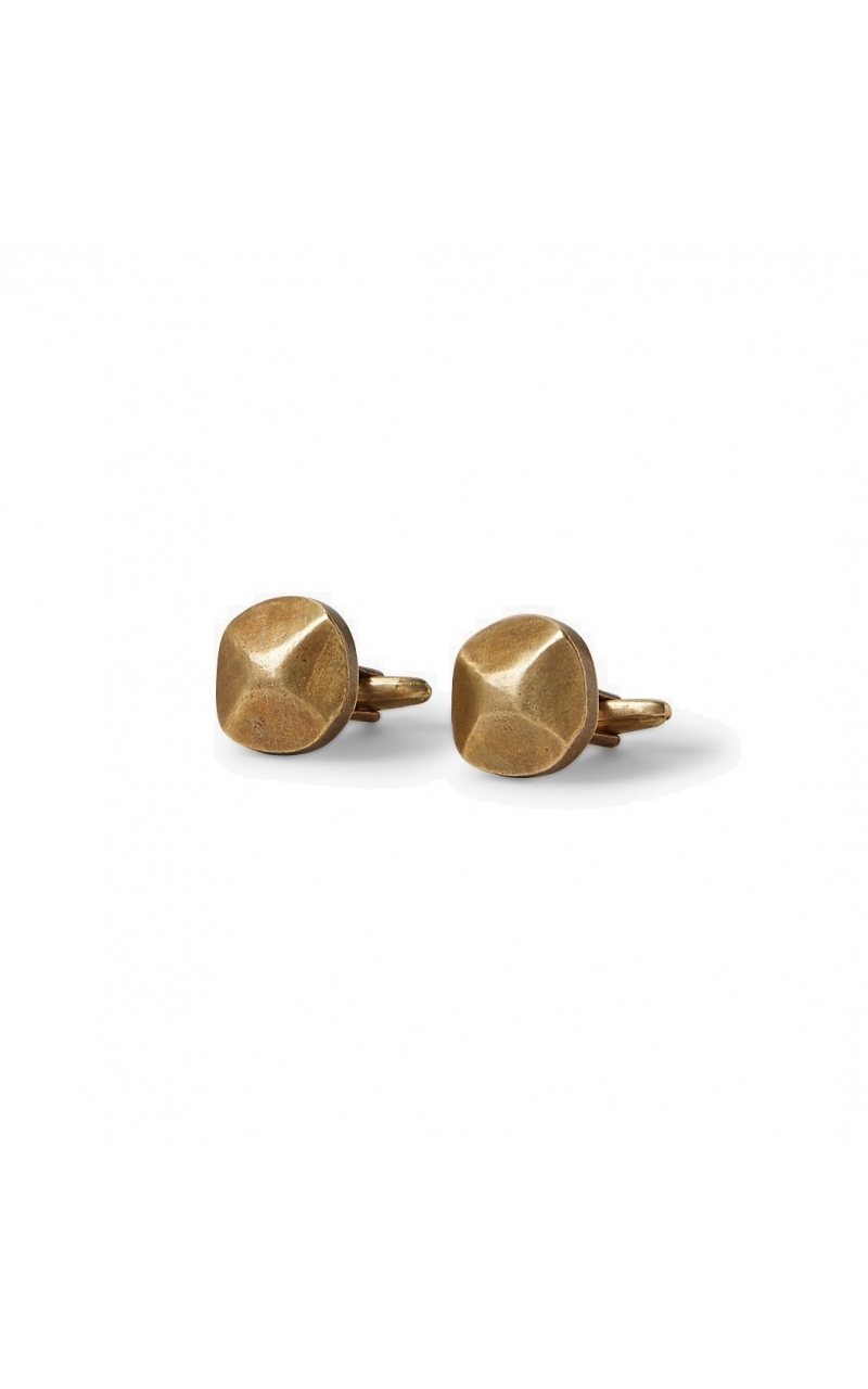 Rivet Cuff links in Brass product image