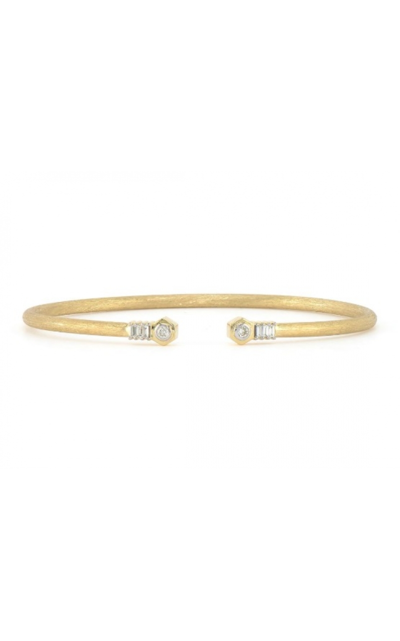 OPEN NAIL HEAD FLEXIBLE BRUSHED BANGLE B01S19-WDCB-6.5-Y product image