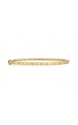 BEADED QUAD DIAMOND BRUSHED BANGLE B06F18-WDCB-6.5-Y product image