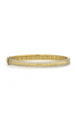WIDE LISSE ENGRAVED KITE PAVE BANGLE B11F18-WDCB-6.5-Y product image