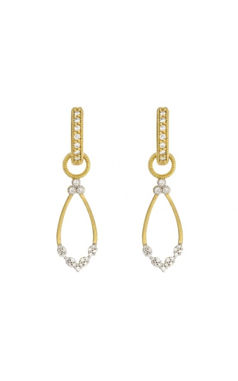 PROVENCE CHAMPAGNE OPEN PEAR BEZEL EARRING CHARMS C11F17-WDCB-Y product image
