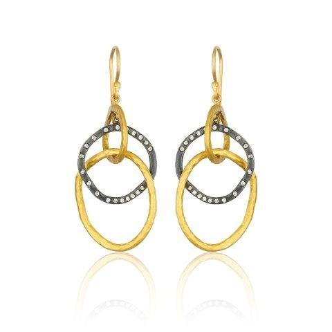 Lika Behar Triple Ring Dangle Earrings product image