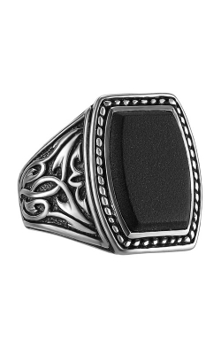 SCOTT KAY STERLING SILVER & BLACK ONYX SPARTA RING product image