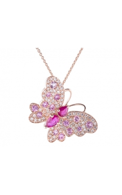Morgans Pink Sapphire Butterfly Pendant APC-27867 product image