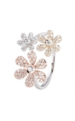 Morgans Pave Flower Ring ALD-27873 product image