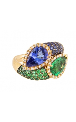 Morgan's Tanzanite & Emerald Fashion Ring ALC-25976 product image