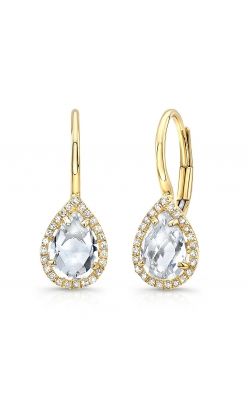 Morgan's Eurowire White Topaz Earrings AEC-28123 product image