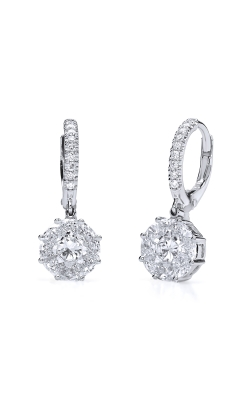Norman Covan Invisible Set Princess Cut Earrings NCE2242 product image