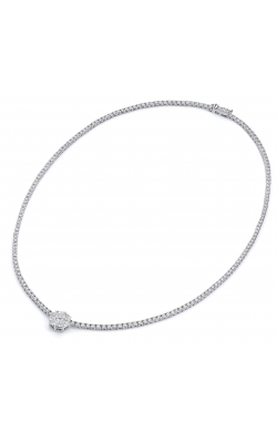 Norman Covan Invisible Set Round Center Necklace NCP5790 product image
