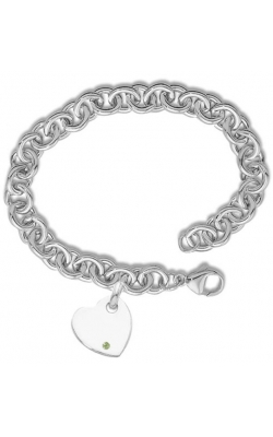 Morgans Sterling Silver Heavy Cable Chain with Heart Tag product image