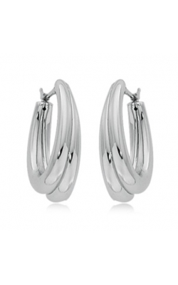 Morgans Sterling Silver Freeform Double Hoop Earrings product image