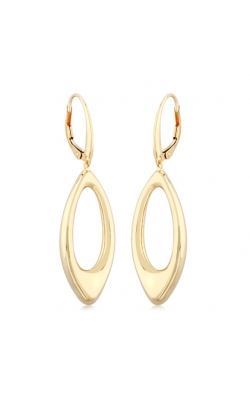 Morgans Open Teardrop Drop Earrings On Leverbacks product image