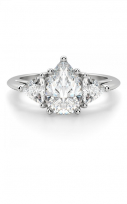 3 Stone Pear Shape Engagement Ring product image