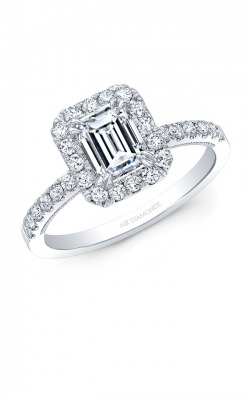 Emerald Cut Engagement Ring ASW-29274 product image