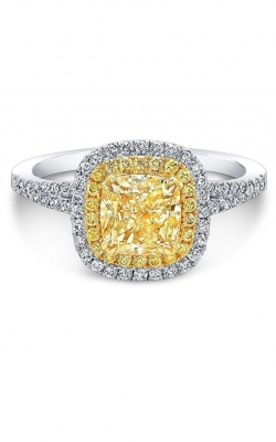 Fancy Yellow Cushion Engagement Ring ASW-29446 product image