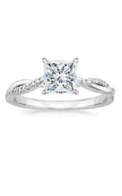 Twisted Shank Princess Engagement Ring product image