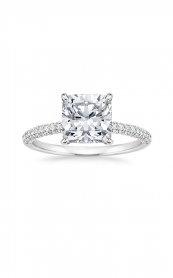 Micro Pave Cushion Engagement Ring product image