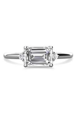 East West 3 Stone Engagement Ring product image