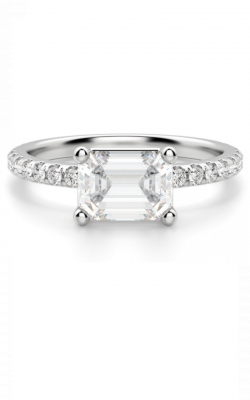 East West Emerald Cut Engagement Ring product image