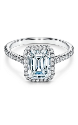 Thin Emerald Cut Engagement Ring 66865 product image
