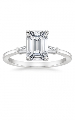 Emerald Cut Tapered Baguette Engagement Ring product image