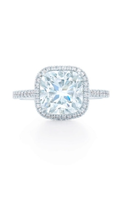 Cushion Center with Halo Engagment Ring  product image