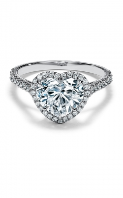 Heart Halo Engagement Ring ASW-29273 product image