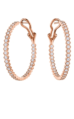 Hexagon Hoop Earrings 34023 product image