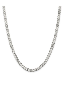 Sterling Silver Rhodium-Plated 6mm Curb Chain product image