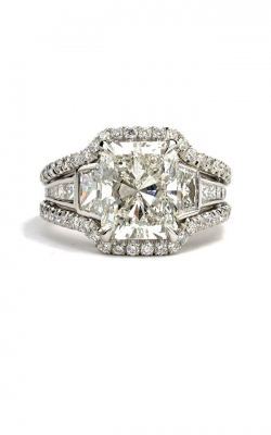 Radiant Cut Engagement Ring ASW-25516 product image